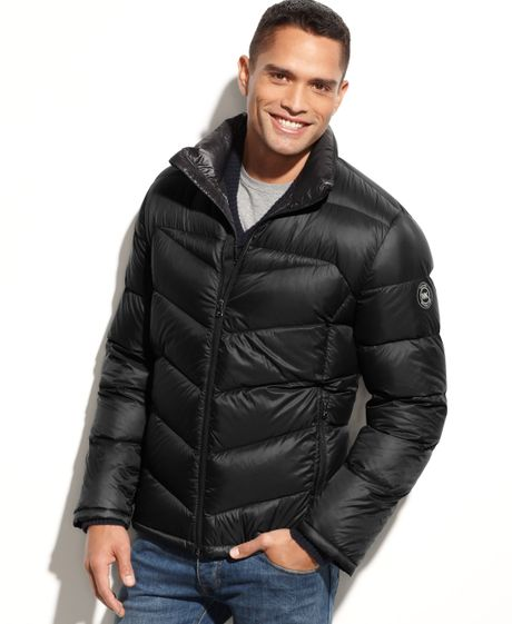 Michael Kors Colfax Packable Coat In Black For Men Lyst