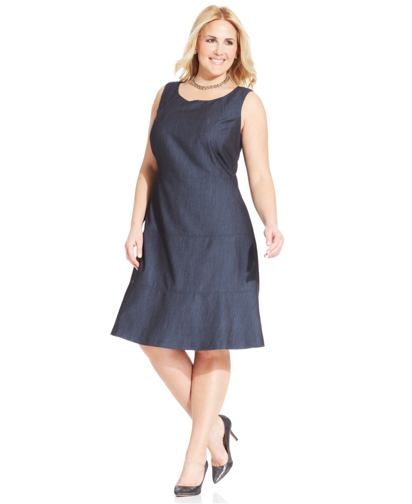 Jones new york collection plus size sleeveless a line for New york and company dress shirts
