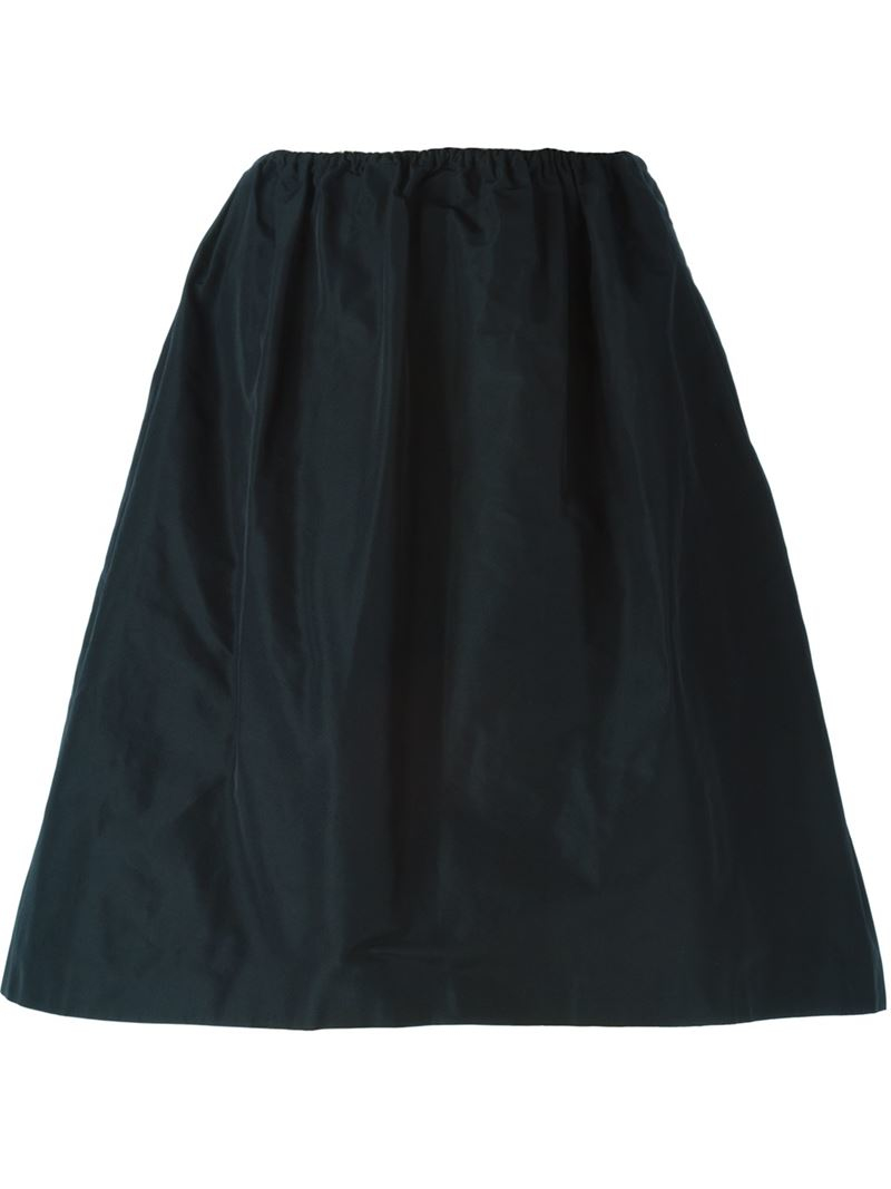 jil sander navy high waisted skirt in blue save 60