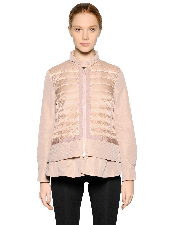 Moncler Cyclamen Longue Saison Nylon Jacket In Pink Lyst