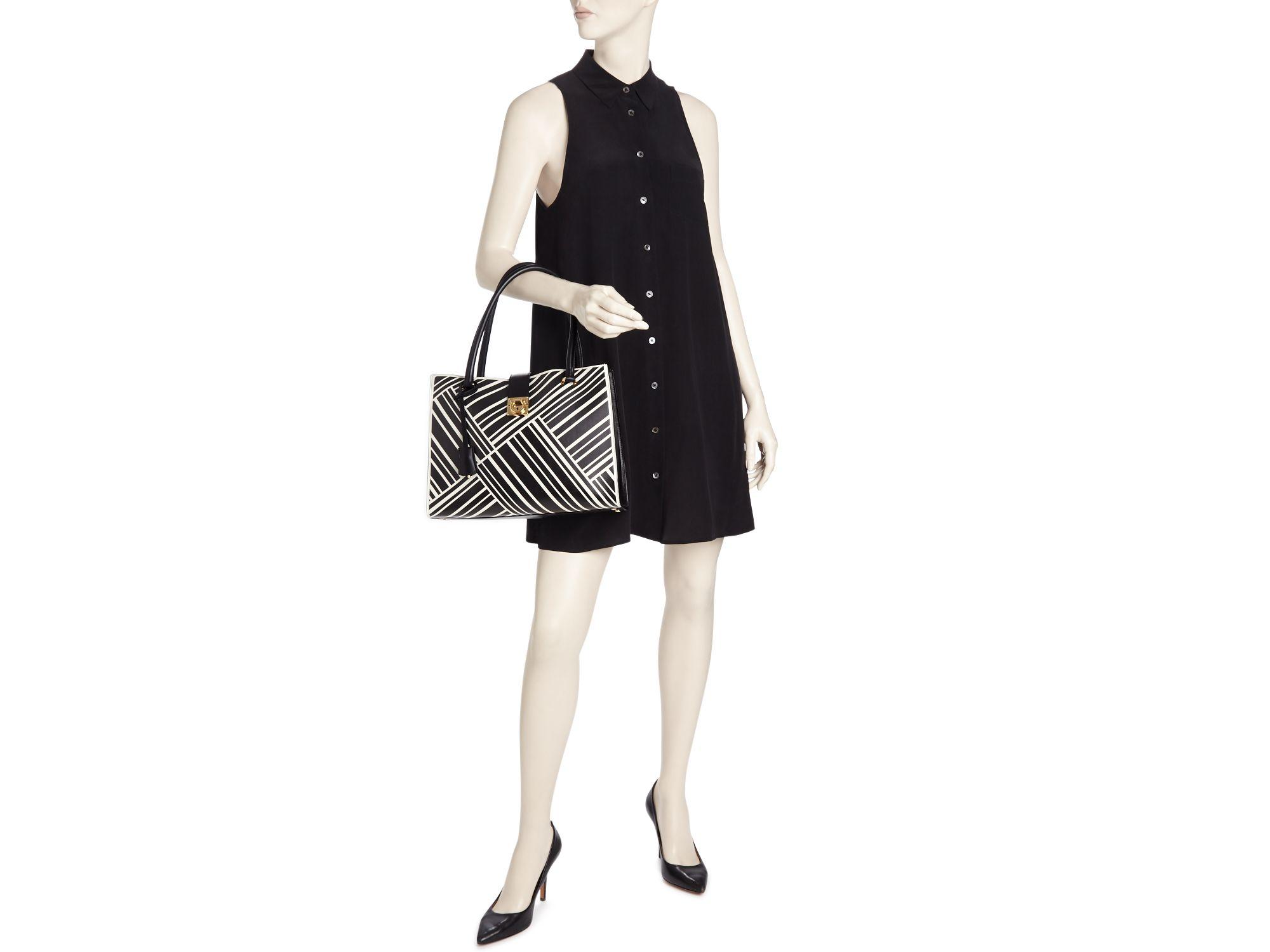6d39ced074 Lyst - Ferragamo Marlene Tote - 100% Bloomingdale s Exclusive in Black