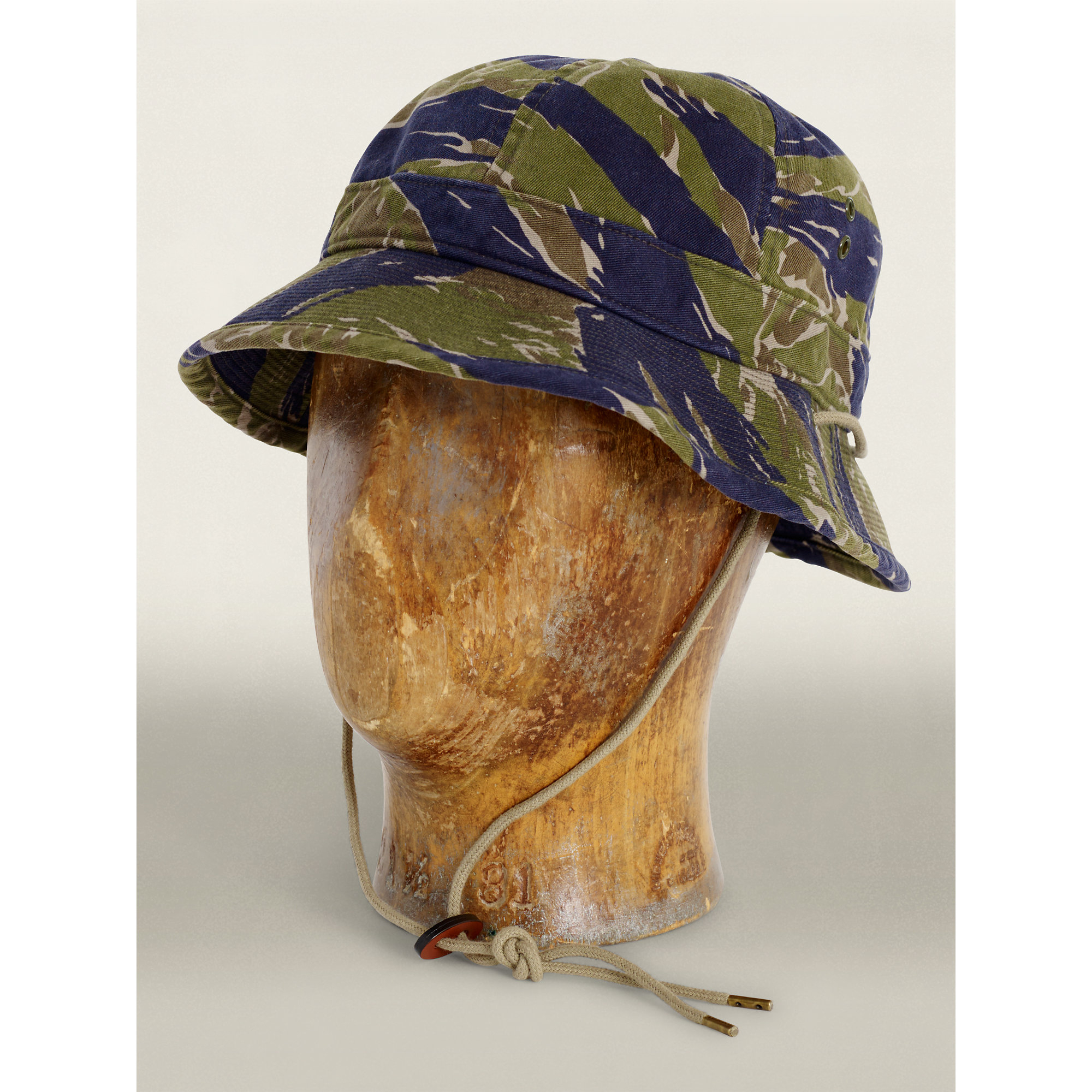 Lyst - RRL Tiger-striped Camo Bucket Hat in Green for Men eae9ddcfb17