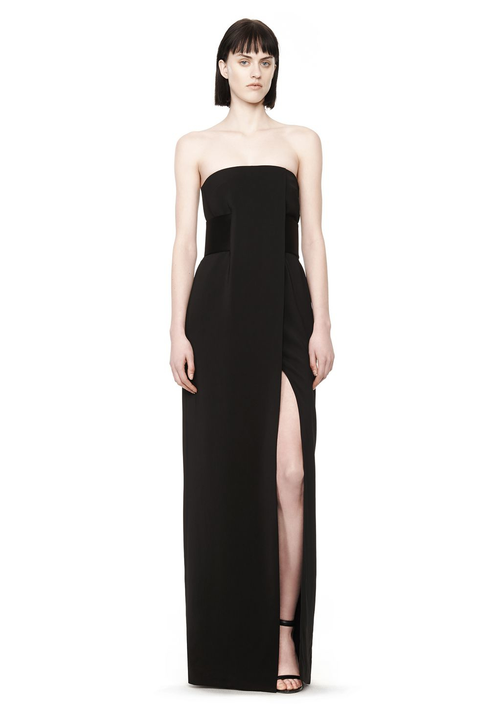 Lyst - Alexander Wang Strapless Gown in Black