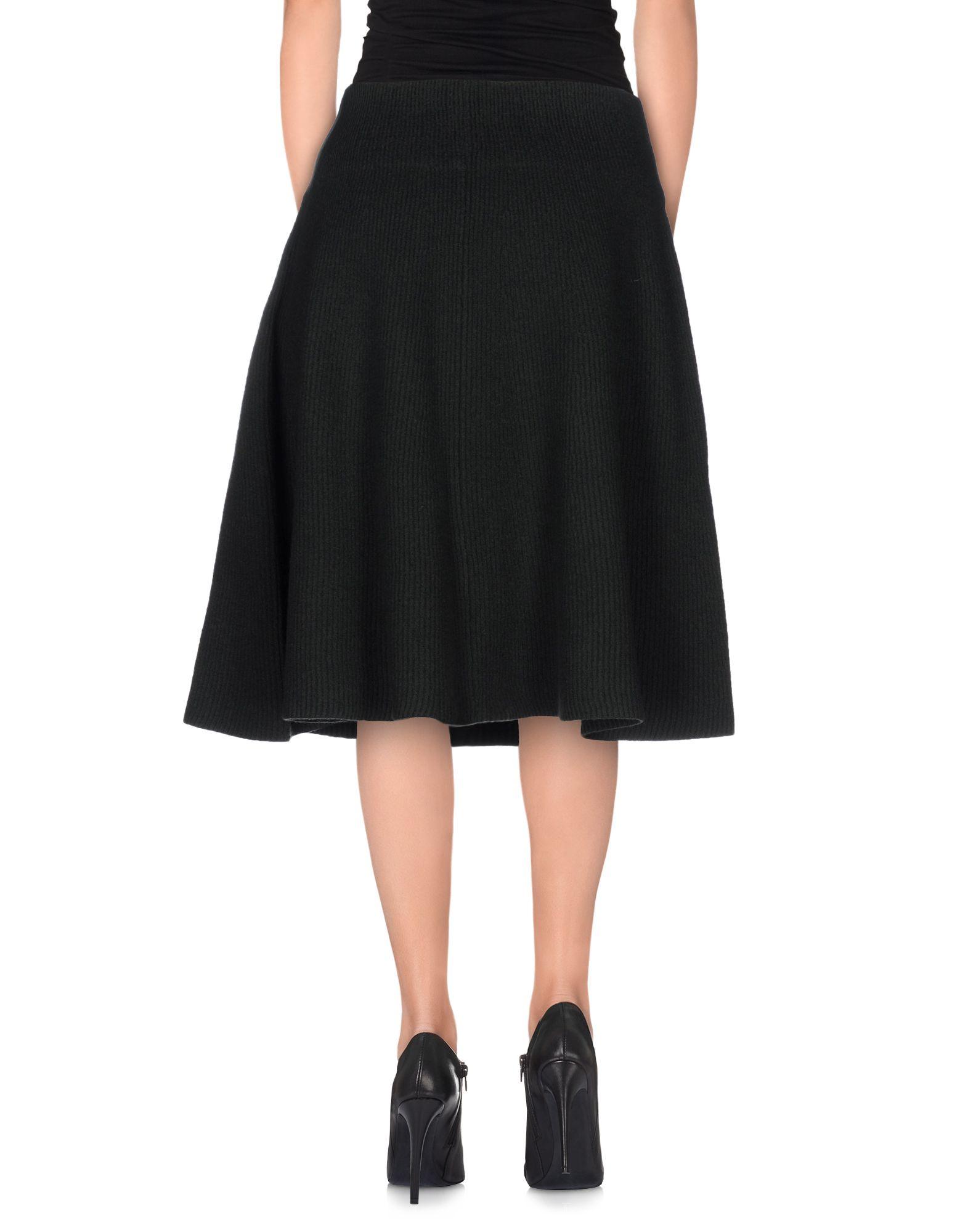 acne green knee length skirt lyst