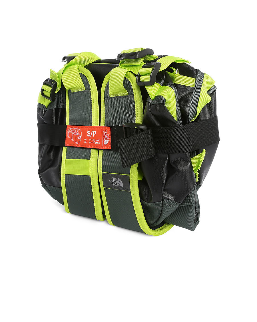 The North Face Black And Yellow Base Camp Duffle Bag S 50