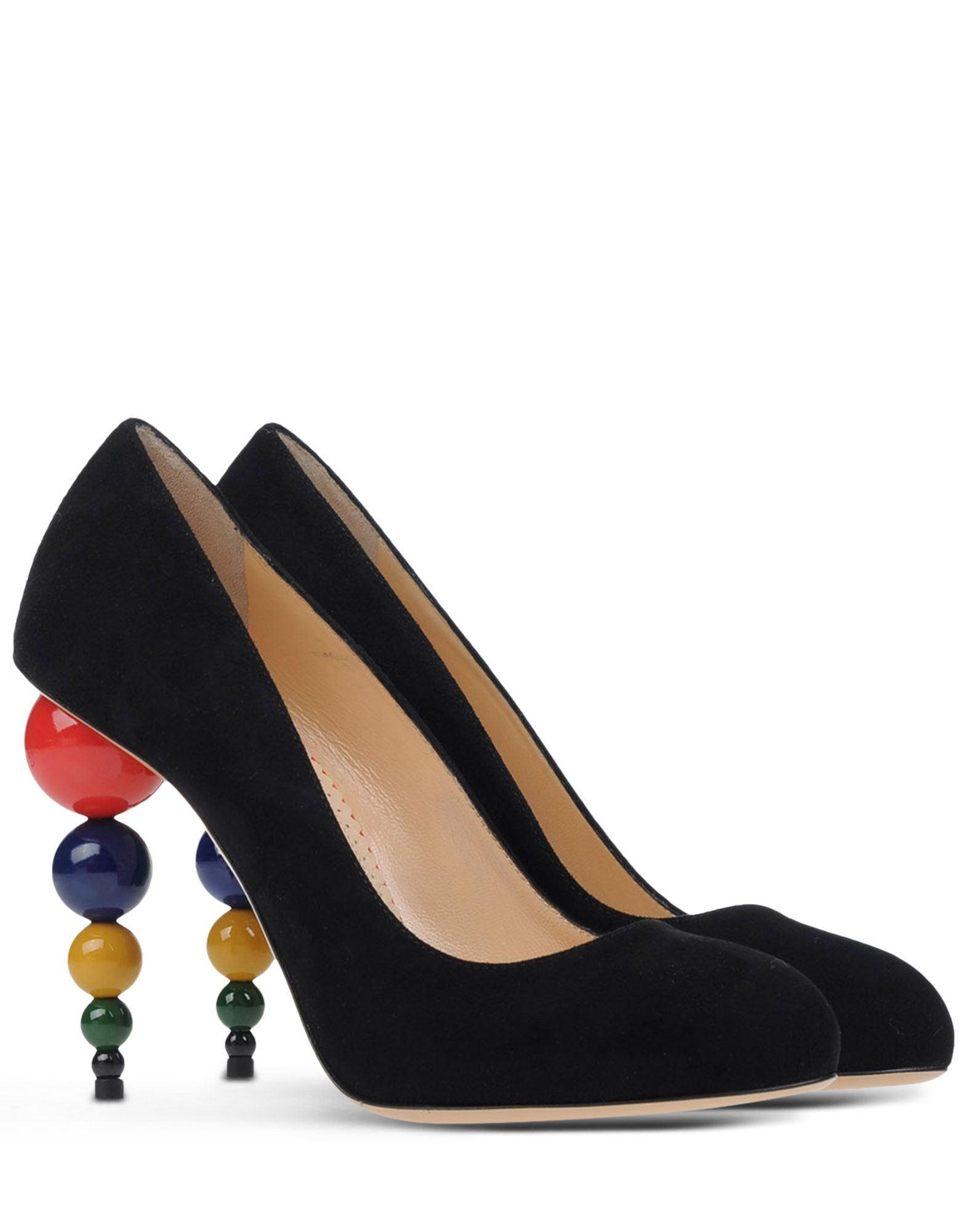 charlotte olympia closed toe slip ons in multicolor black lyst. Black Bedroom Furniture Sets. Home Design Ideas