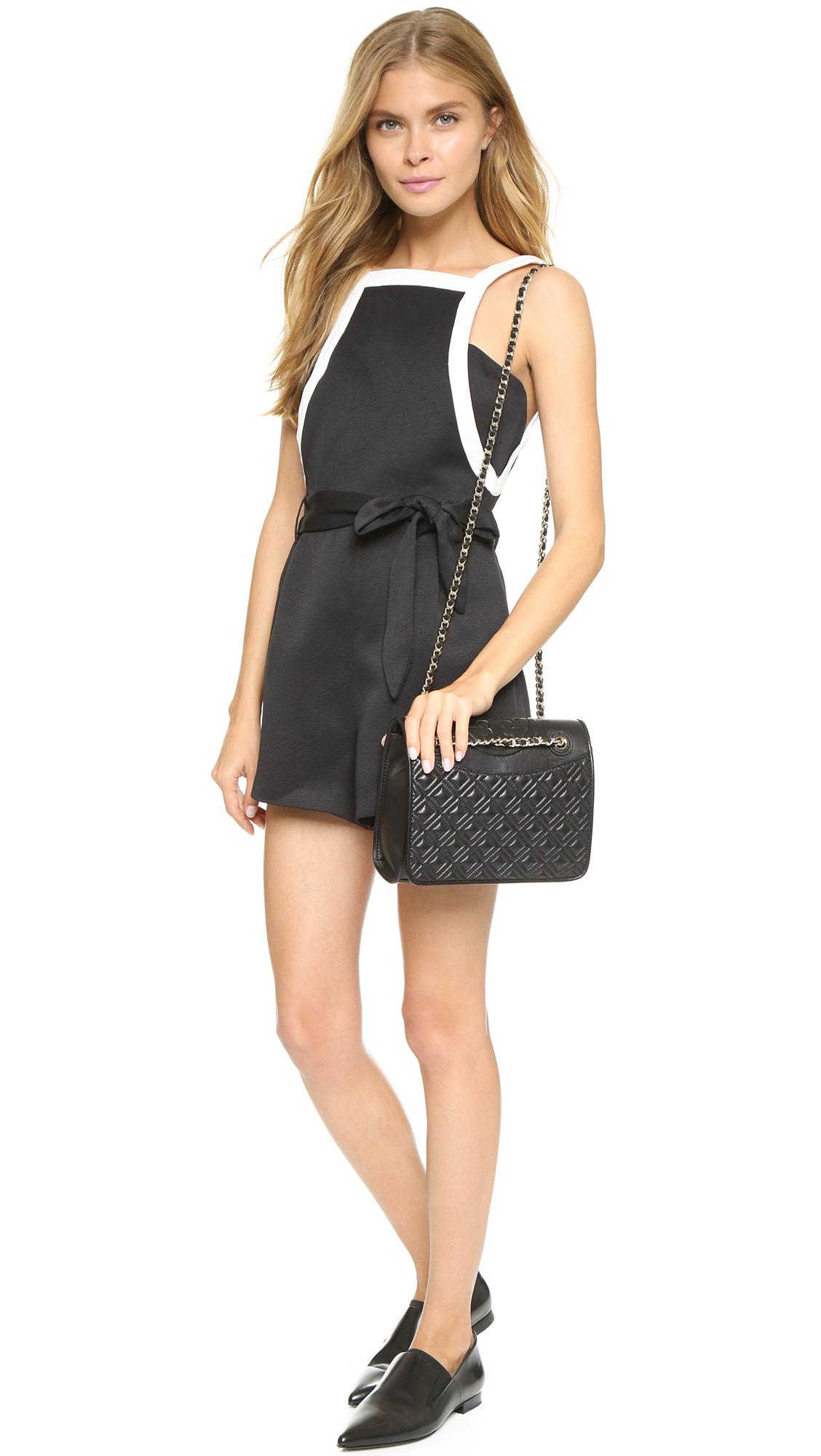 45b995faeff Lyst - Tory Burch Fleming Medium Bag in Black