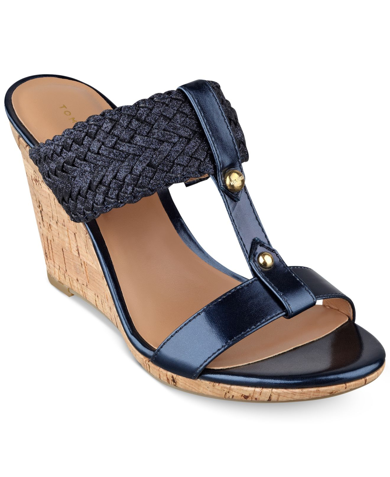 2d2a89046615 Lyst - Tommy Hilfiger Women s Eleona Wedge Sandals in Blue