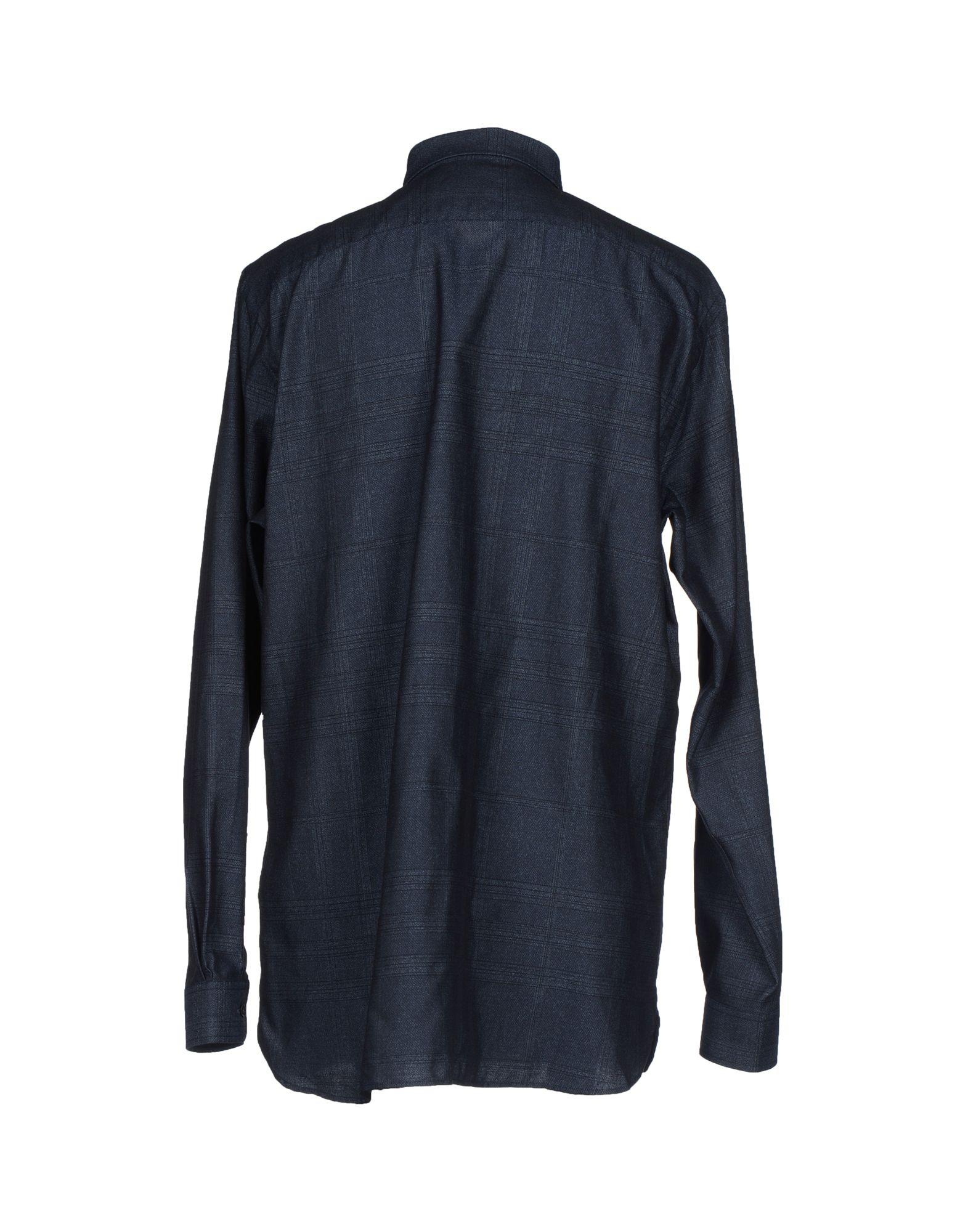 Burberry London Shirt In Blue For Men Slate Blue Lyst