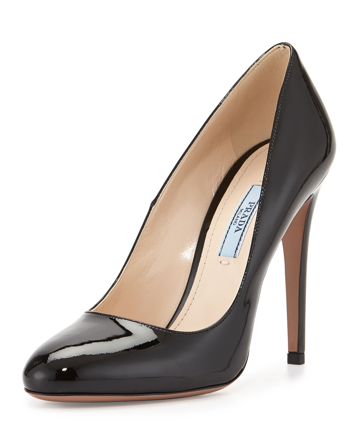Prada Studded Round-Toe Pumps free shipping fast delivery QoQHvW8C0