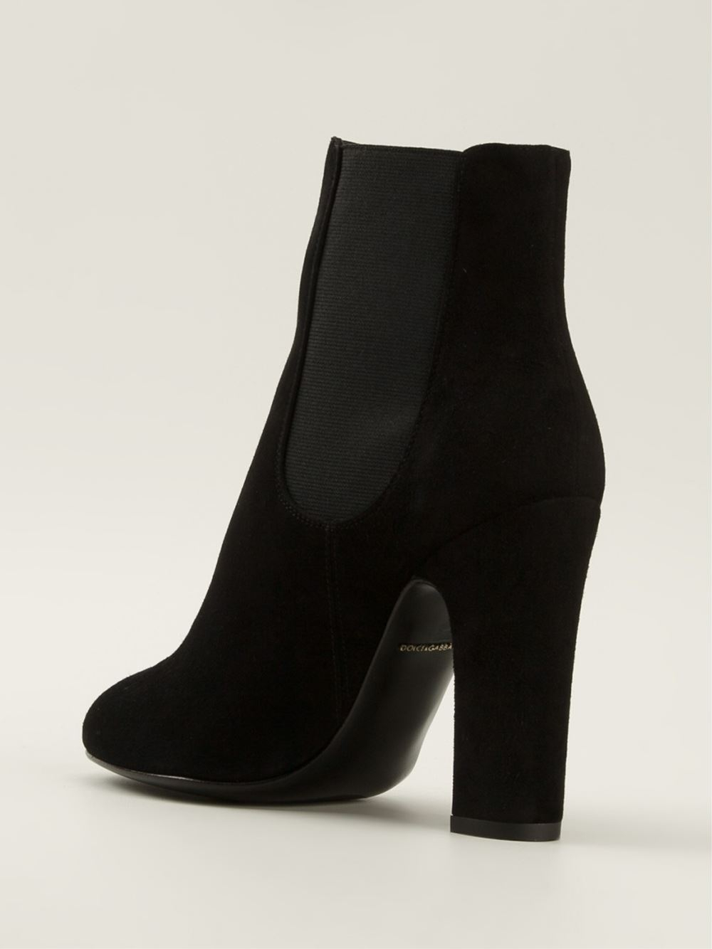 lyst dolce gabbana 39 vally 39 chelsea boots in black. Black Bedroom Furniture Sets. Home Design Ideas