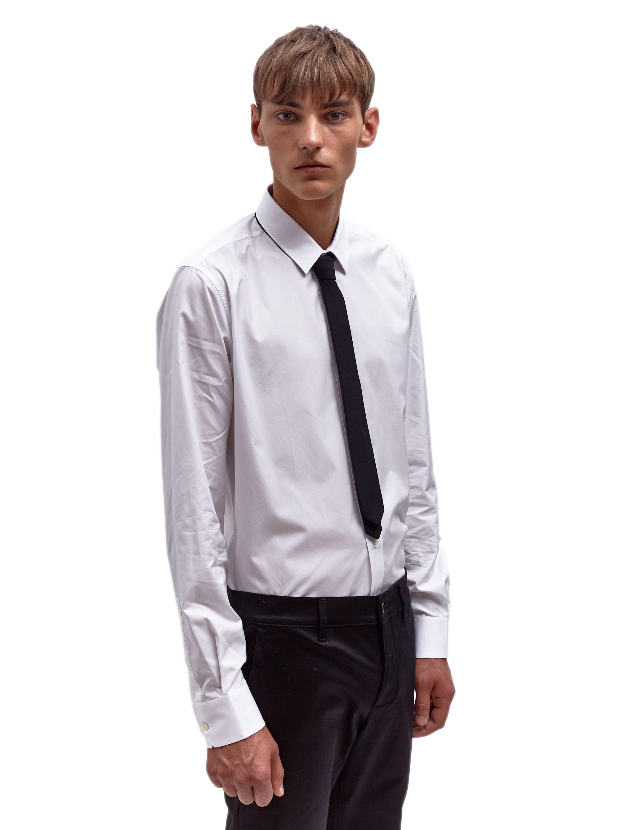 White Dress Shirt With Skinny Black Tie Bcd Tofu House
