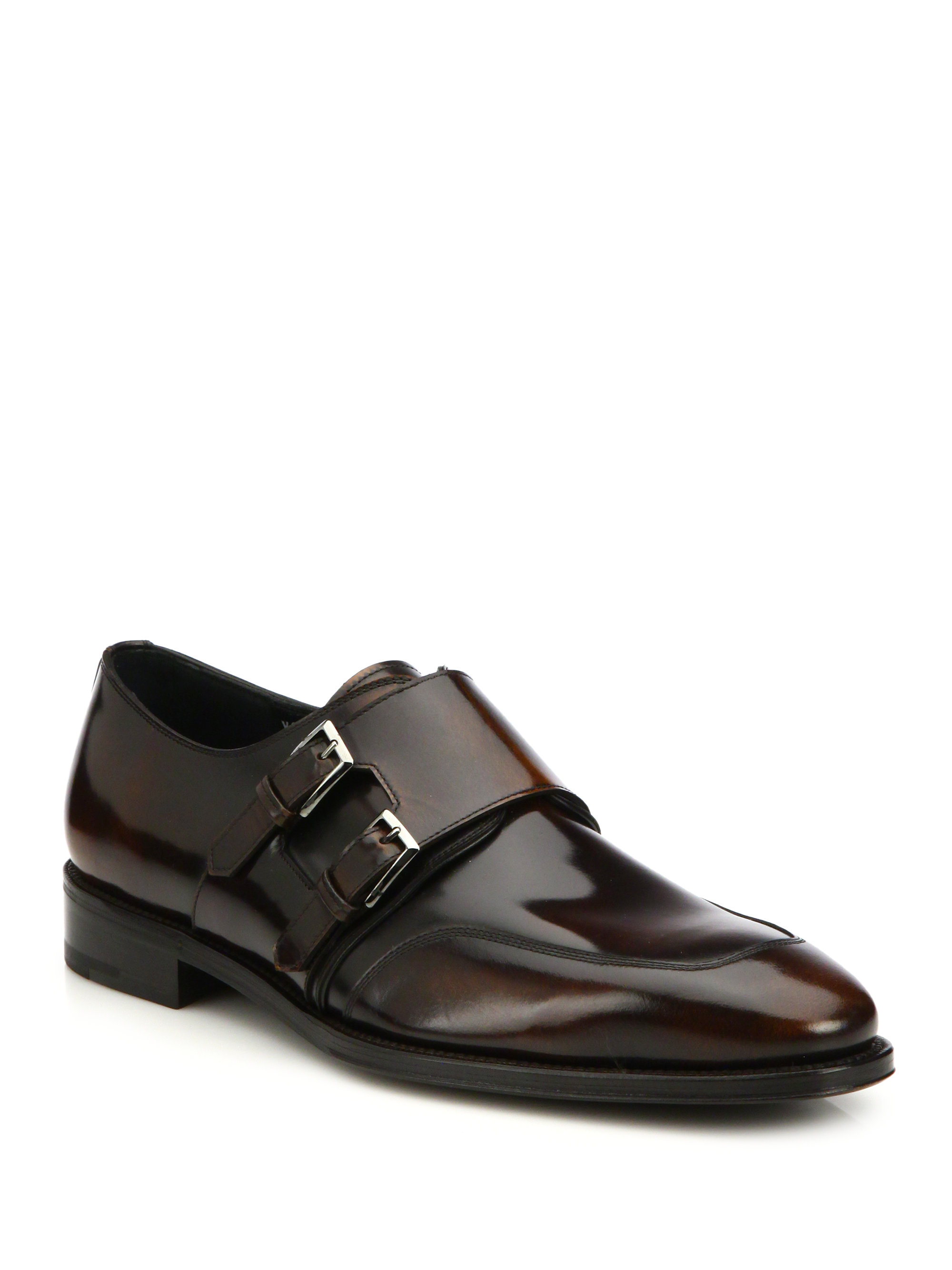 Salvatore Ferragamo Double Monk Strap Dress Shoes