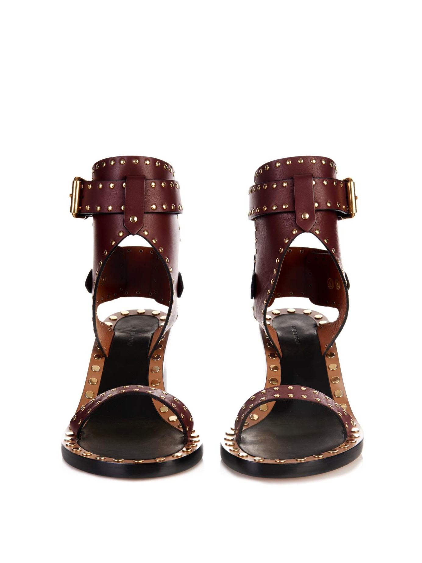 Lyst Isabel Marant Jaeryn Studded Leather Sandals In Red