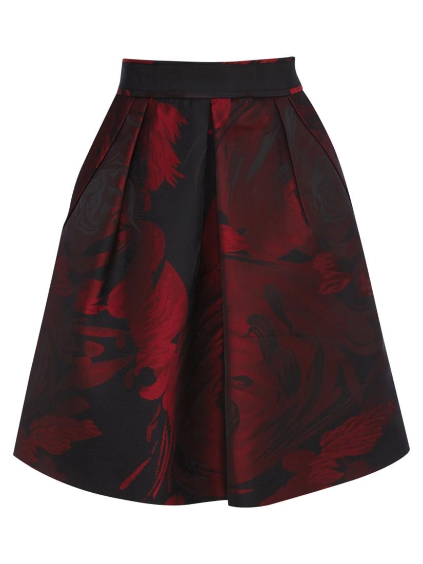 Coast Etna Jacquard Skirt In Red Lyst