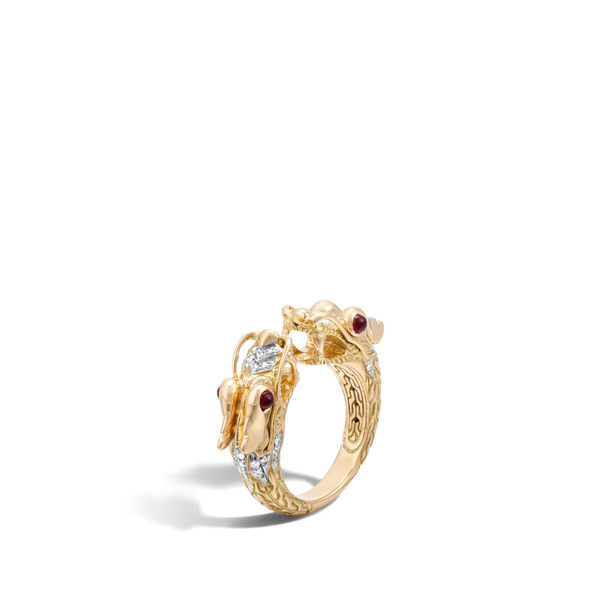John Hardy Naga Ring With Diamonds i3EHmS7zIO