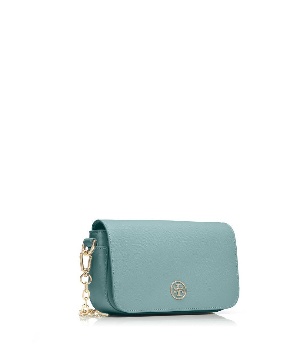 566a27c004a9 ... australia lyst tory burch robinson chain mini bag in blue 2f976 88e36