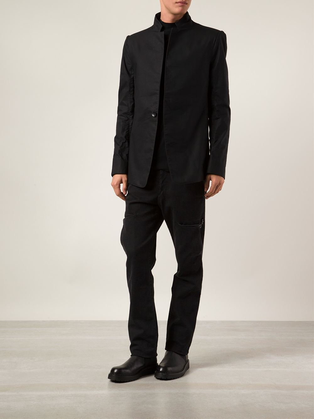 Lyst - Y. Project High-Neck Blazer In Black For Men