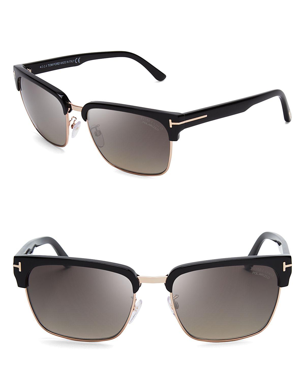 ac90a2edb3 Lyst - Tom Ford Polarized River Wayfarer Sunglasses in Black for Men