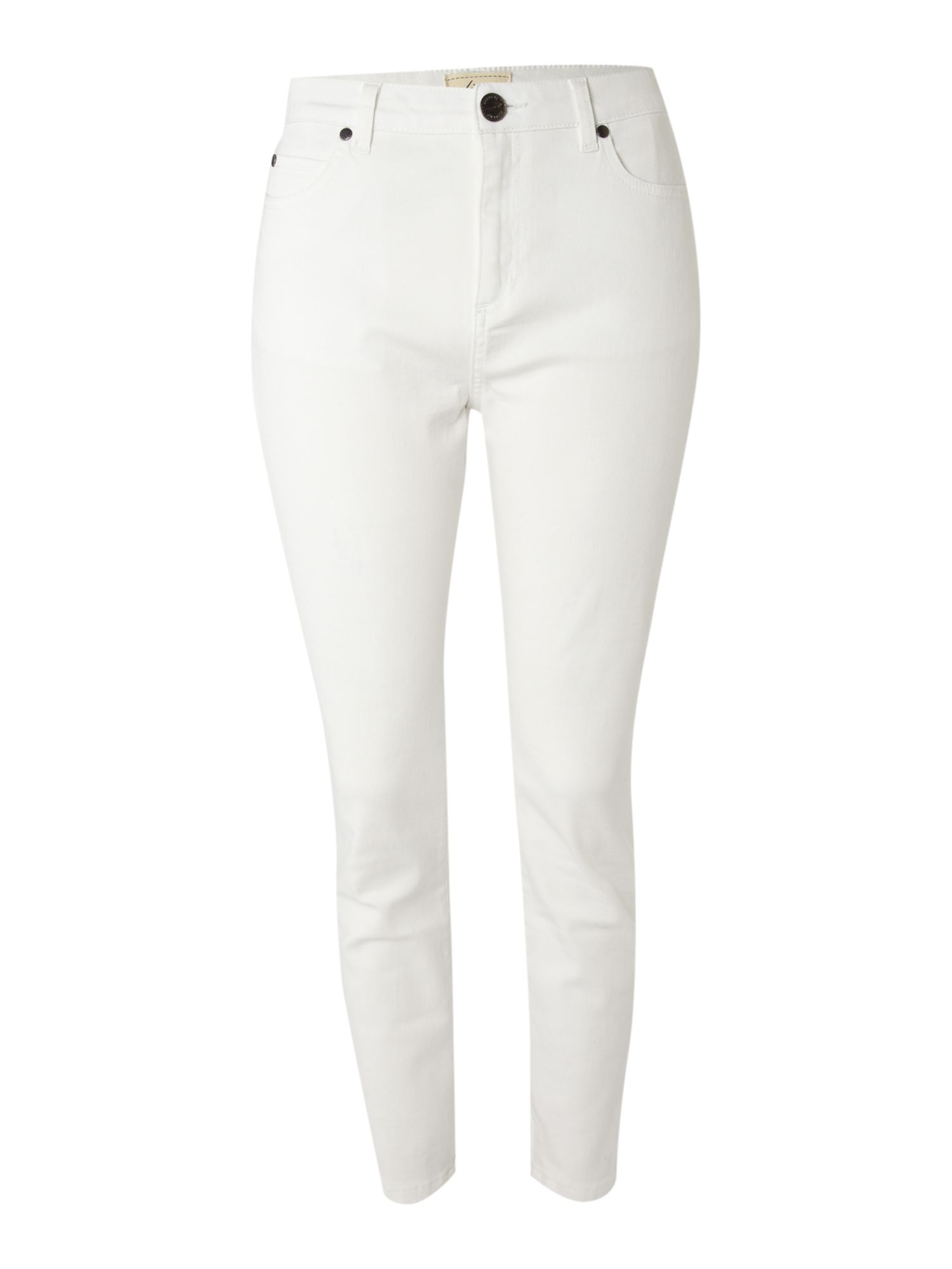 Linea weekend Ladies Coloured Ankle Grazer Cropped Jeans in White ...