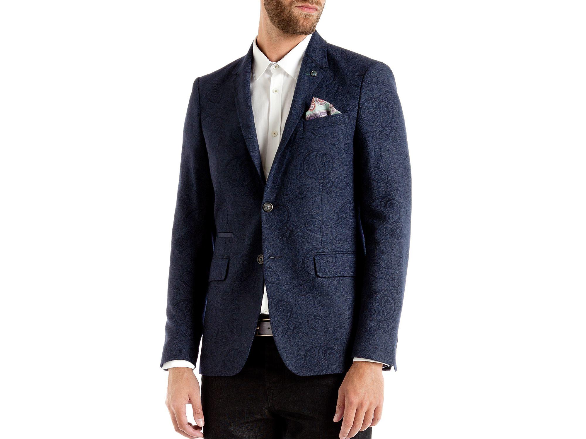 9217b52133f18a Lyst - Ted Baker Hiko Paisley Regular Fit Blazer in Blue for Men