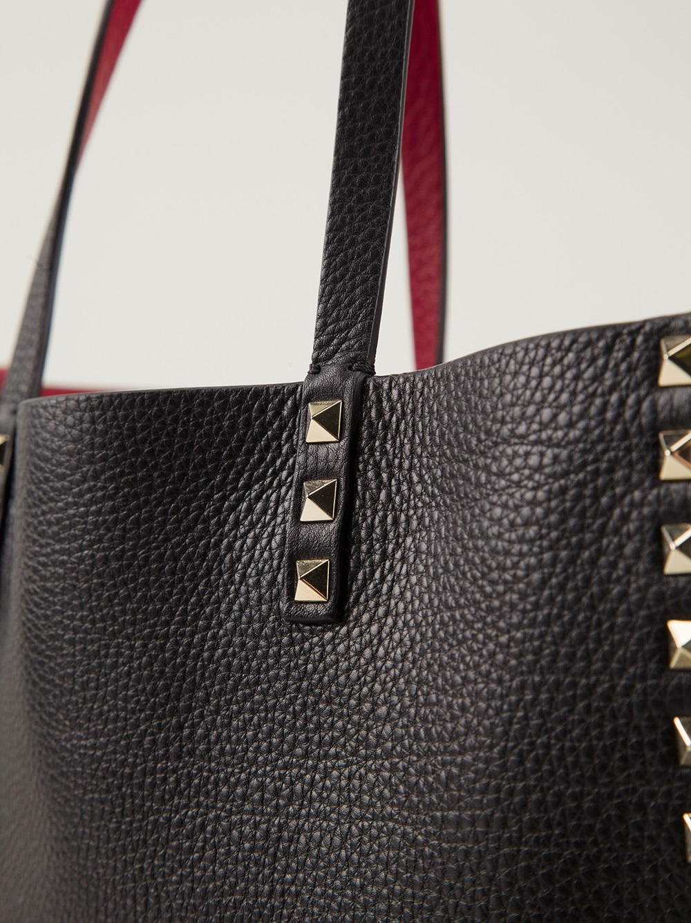 d05a2933c Valentino Rockstud Reversible Tote in Black - Lyst