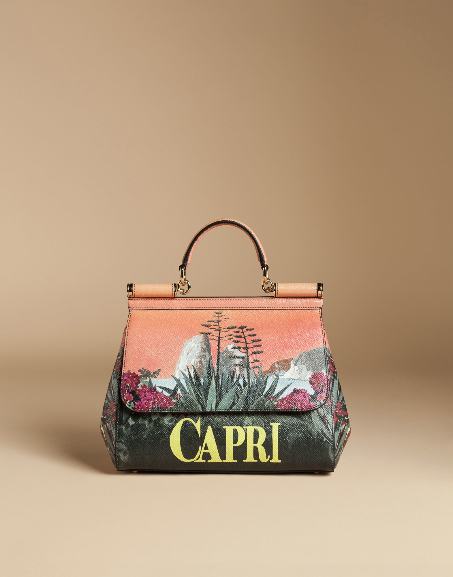 5647023ef786 Lyst - Dolce   Gabbana Medium Sicily Bag In Printed Dauphine Leather