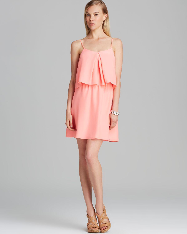 Amanda uprichard Dress Summer Silk in Pink - Lyst