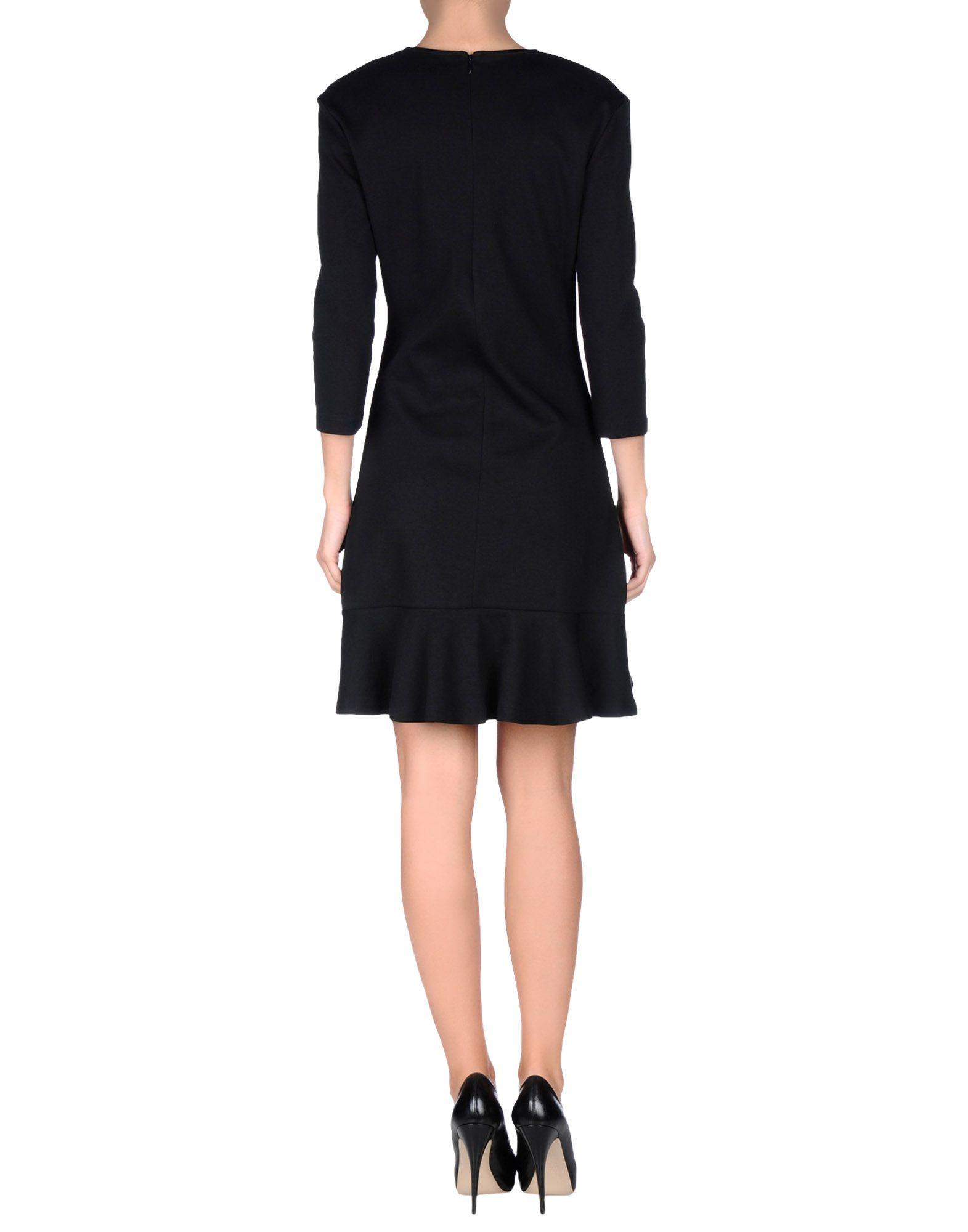 Mcq alexander mcqueen Short Dress in Black   Lyst