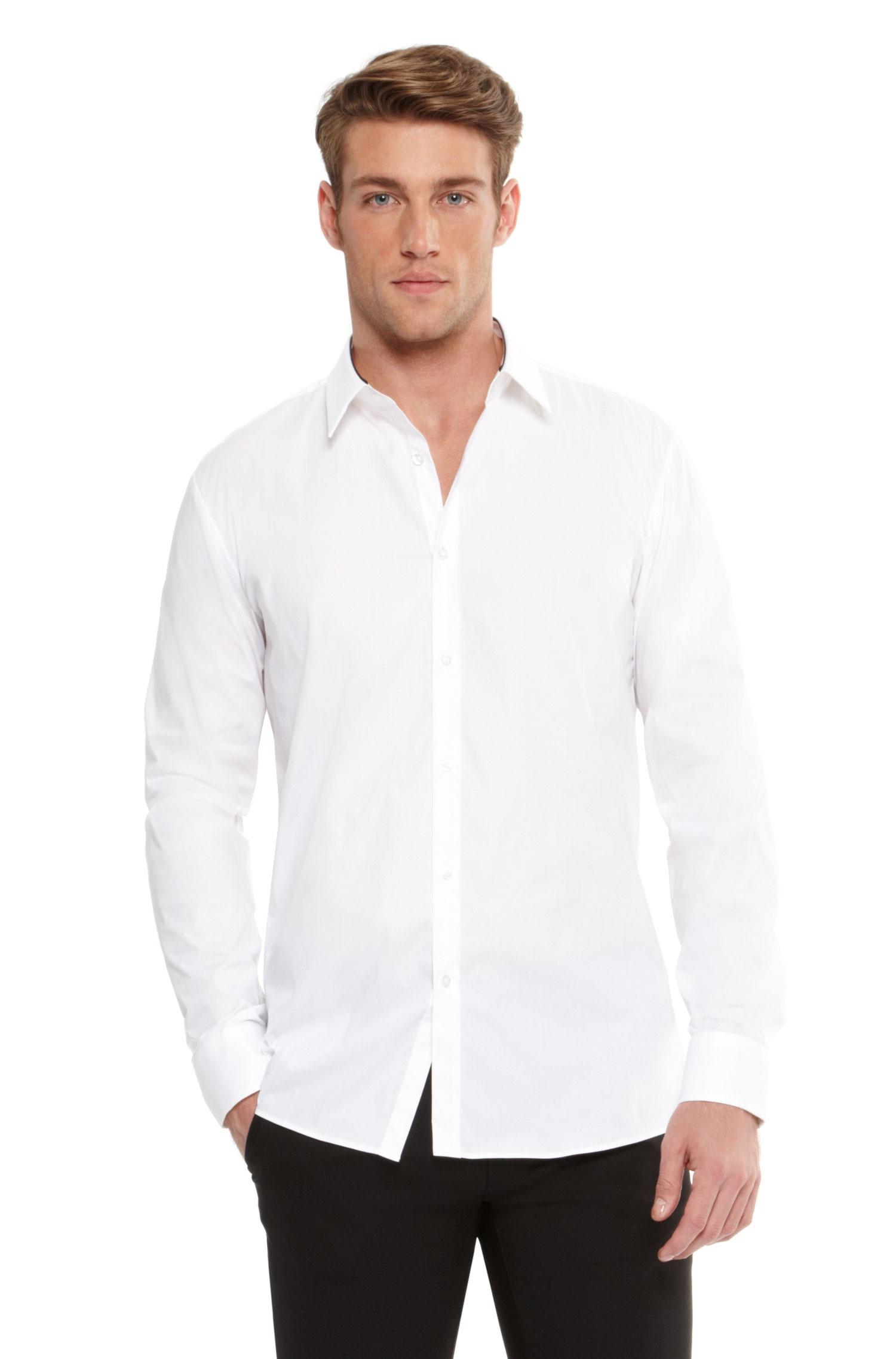 Hugo Etonio Slim Fit Stretch Cotton Button Down Shirt In