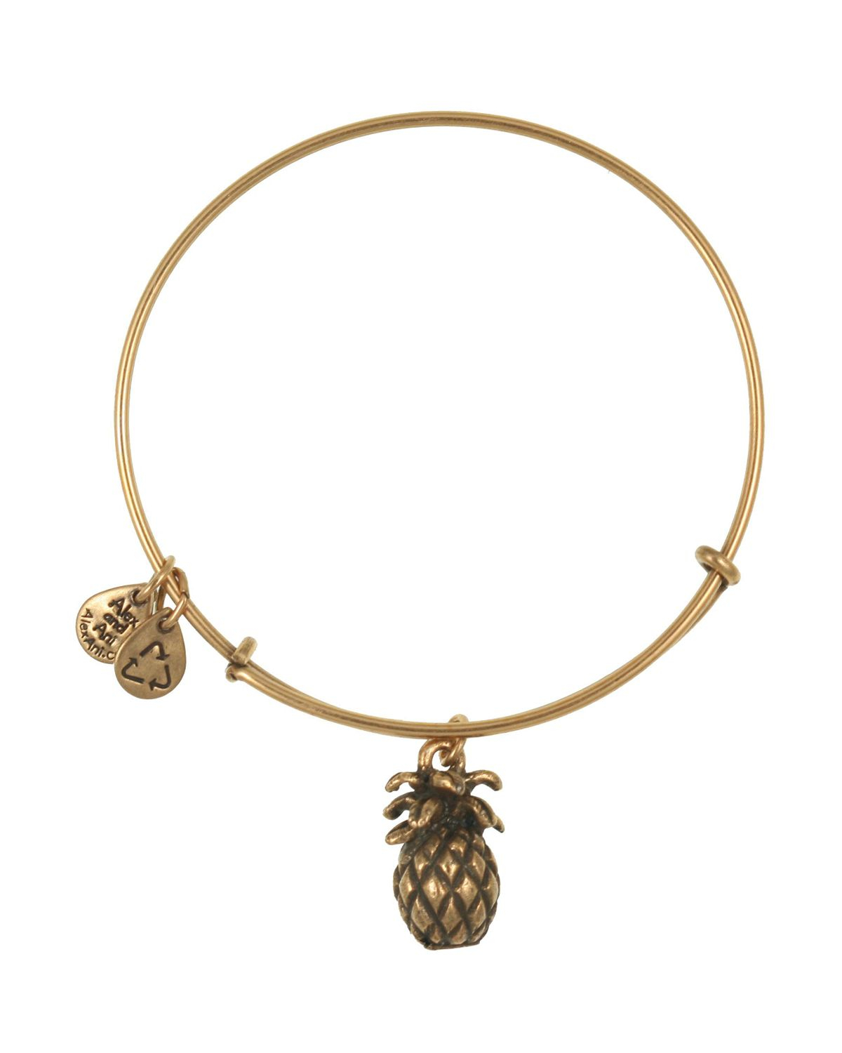 Lyst Alex And Ani Pineapple Expandable Wire Bangle In