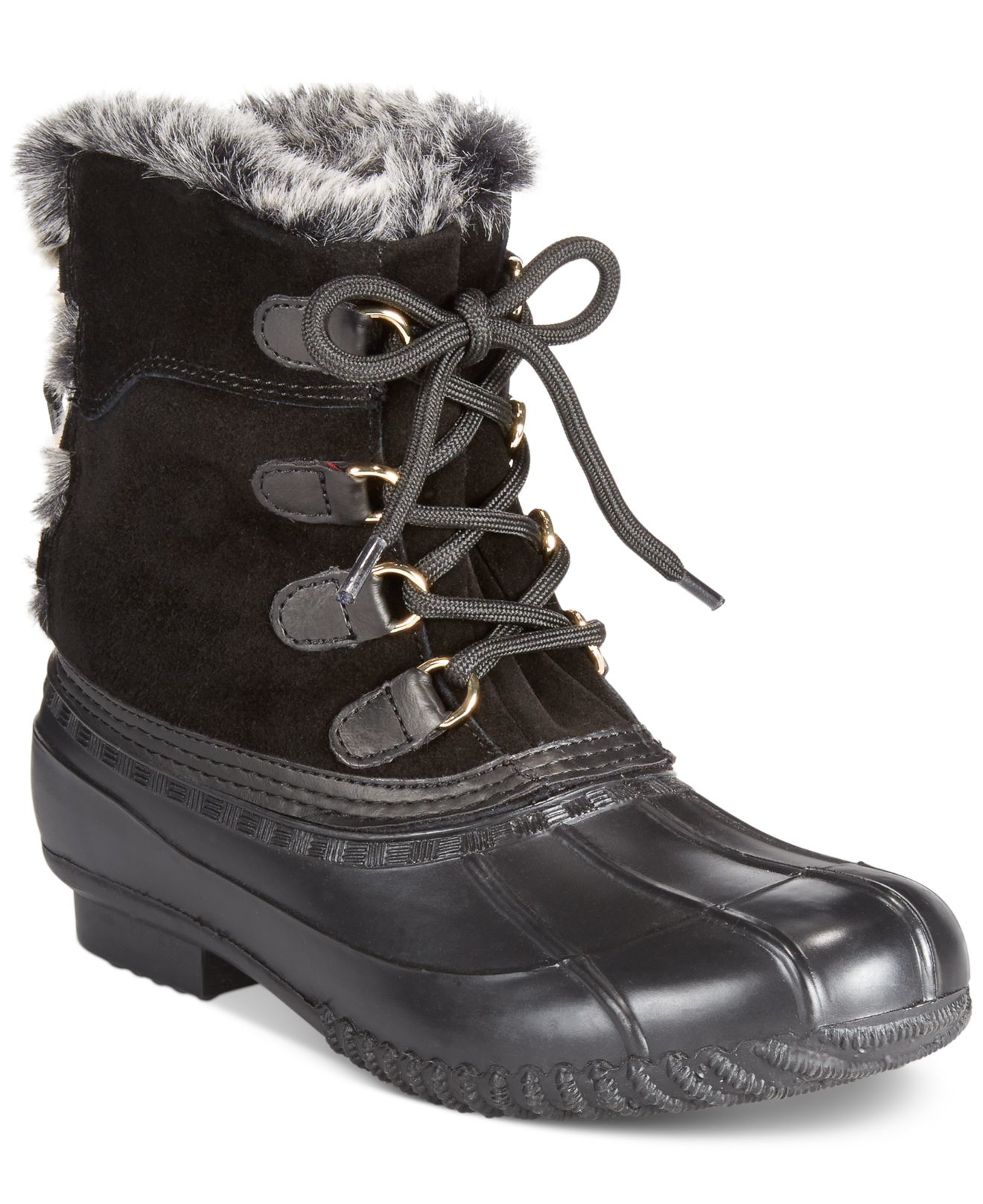 lyst tommy hilfiger rellenna cold weather boots in black. Black Bedroom Furniture Sets. Home Design Ideas