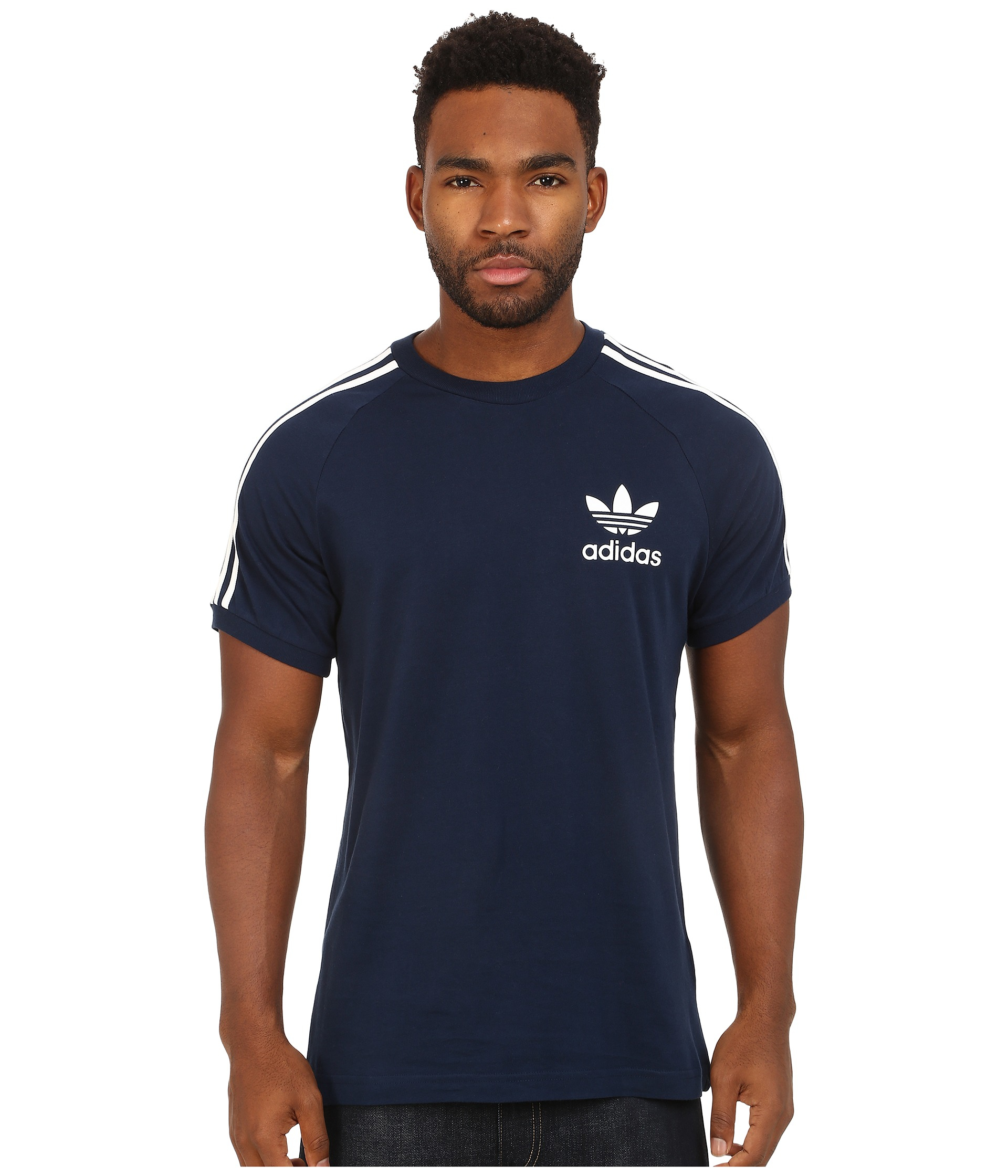 adidas originals sport essentials tee in blue for men. Black Bedroom Furniture Sets. Home Design Ideas