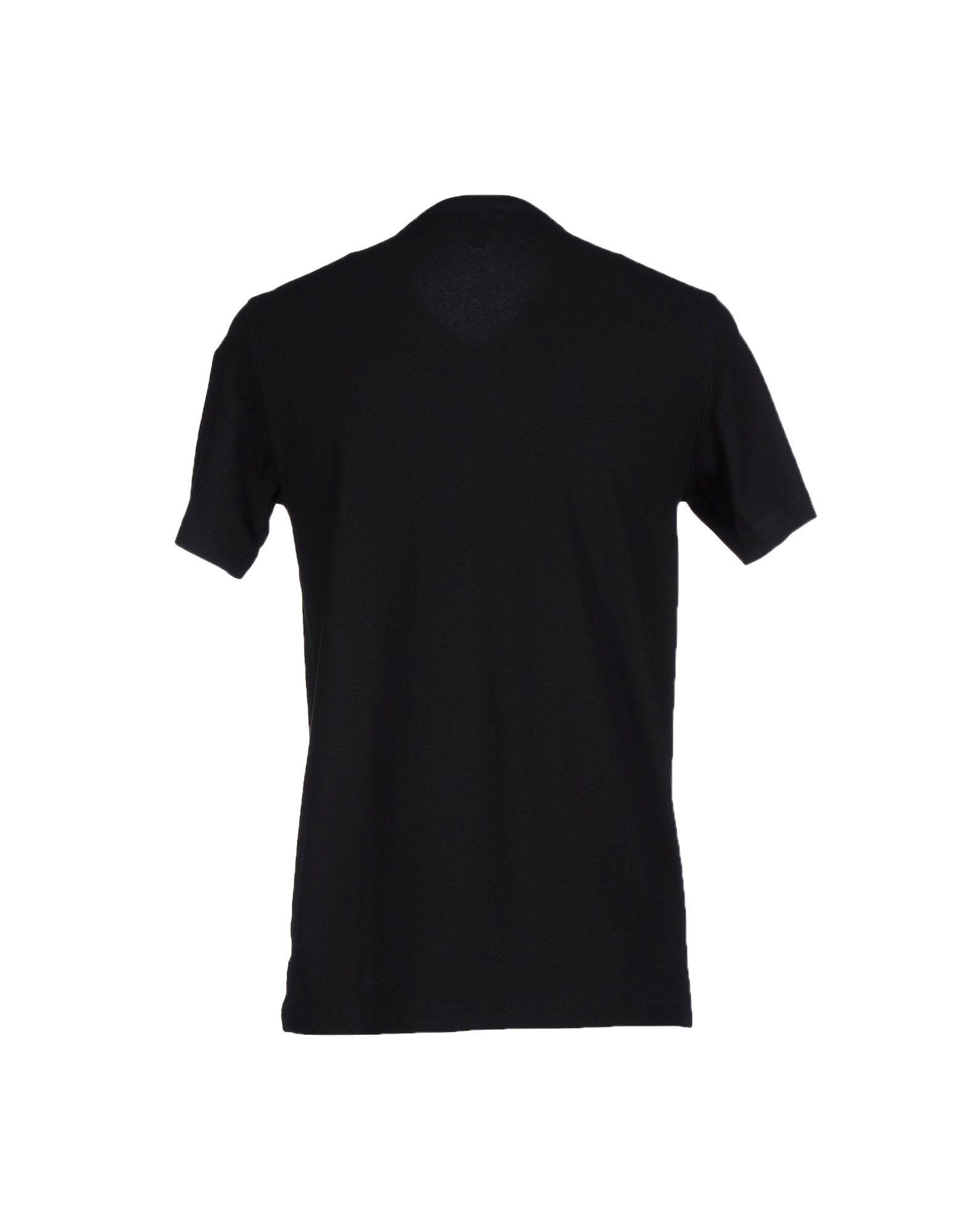 armani jeans black t shirt for men lyst. Black Bedroom Furniture Sets. Home Design Ideas