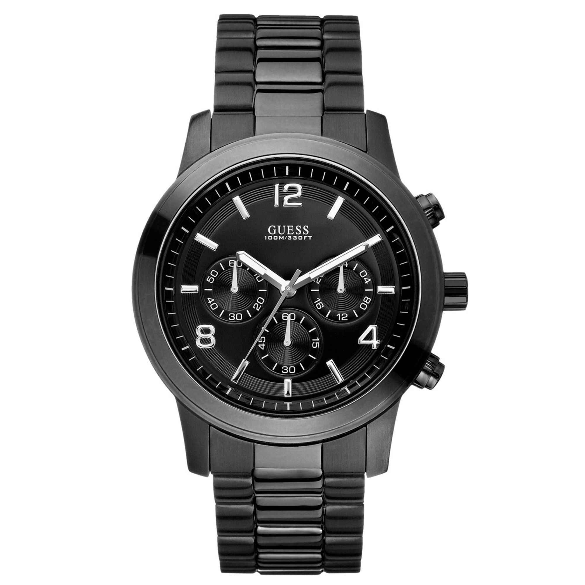 guess s chronograph bold contemporary black ion