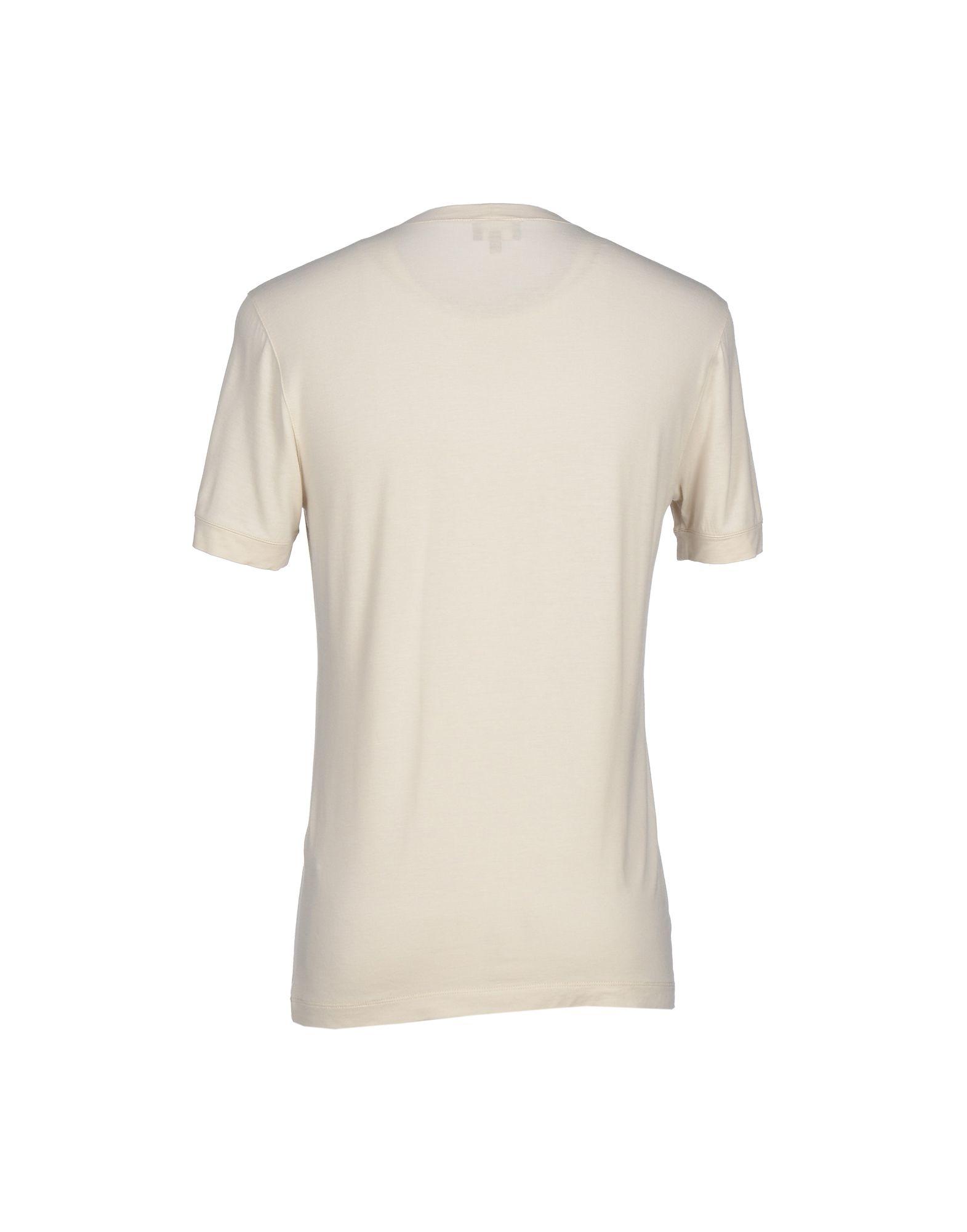 giorgio armani tshirt in natural for men lyst