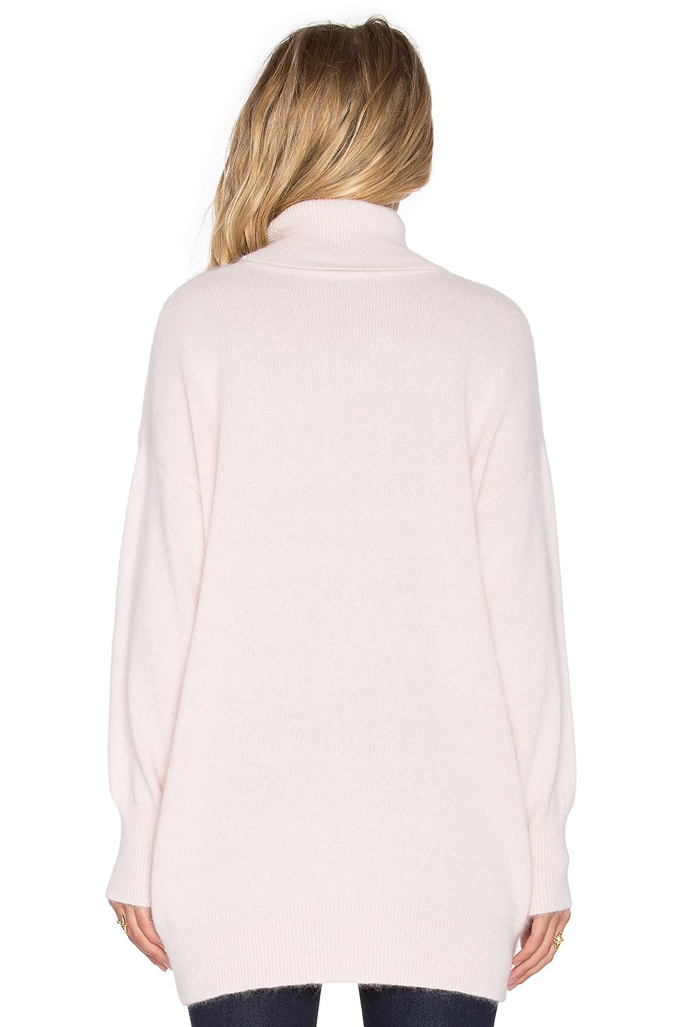 Nicholas Angora Oversized Turtleneck Sweater in Pink | Lyst