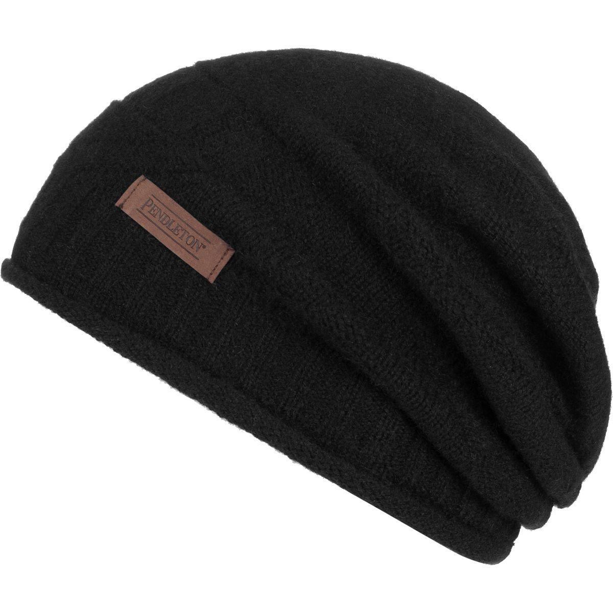 570342ed77c Lyst - Pendleton Cashmere Roll Edge Hat in Black for Men