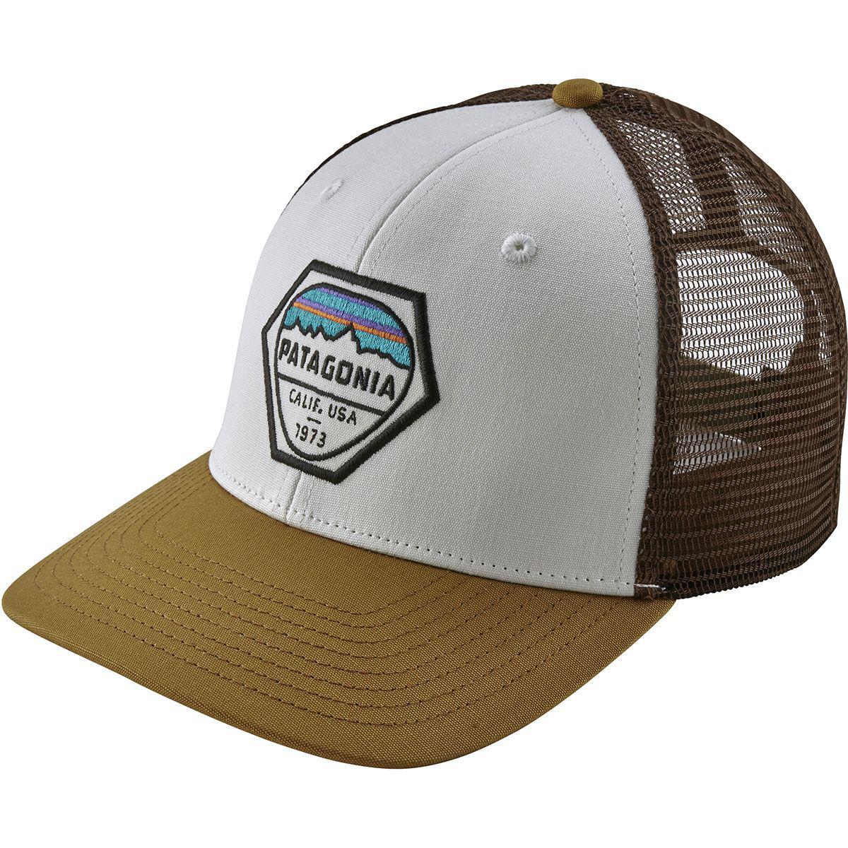 cbe359c462c Lyst - Patagonia Fitz Roy Hex Trucker Hat in White for Men