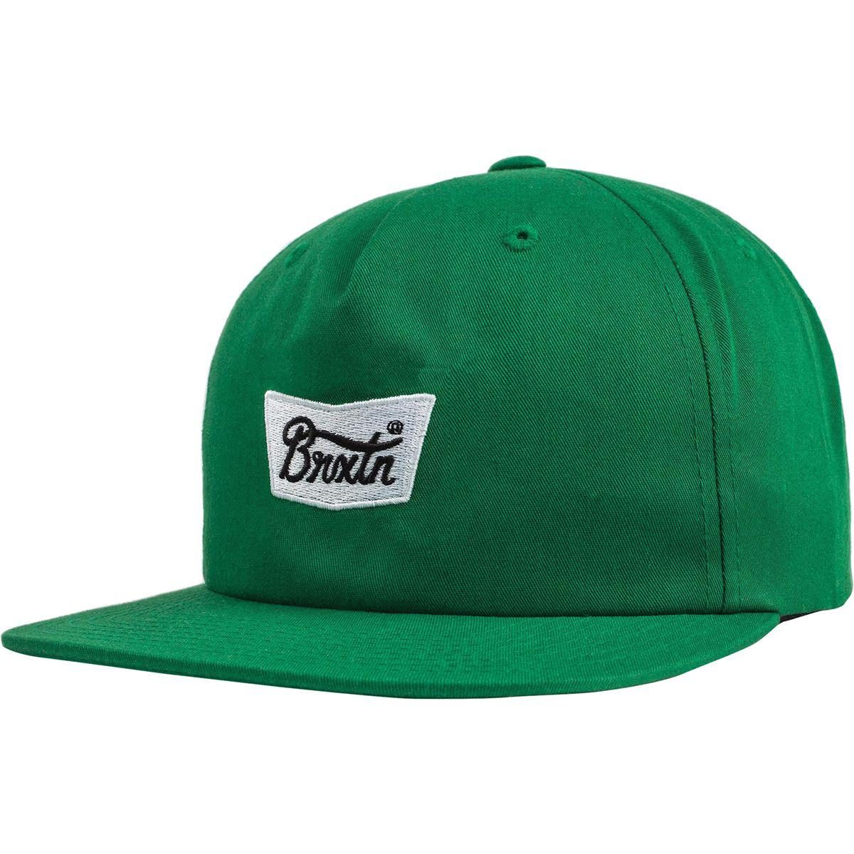 a0938cbbefe Lyst - Brixton Stith Snapback Hat in Green for Men
