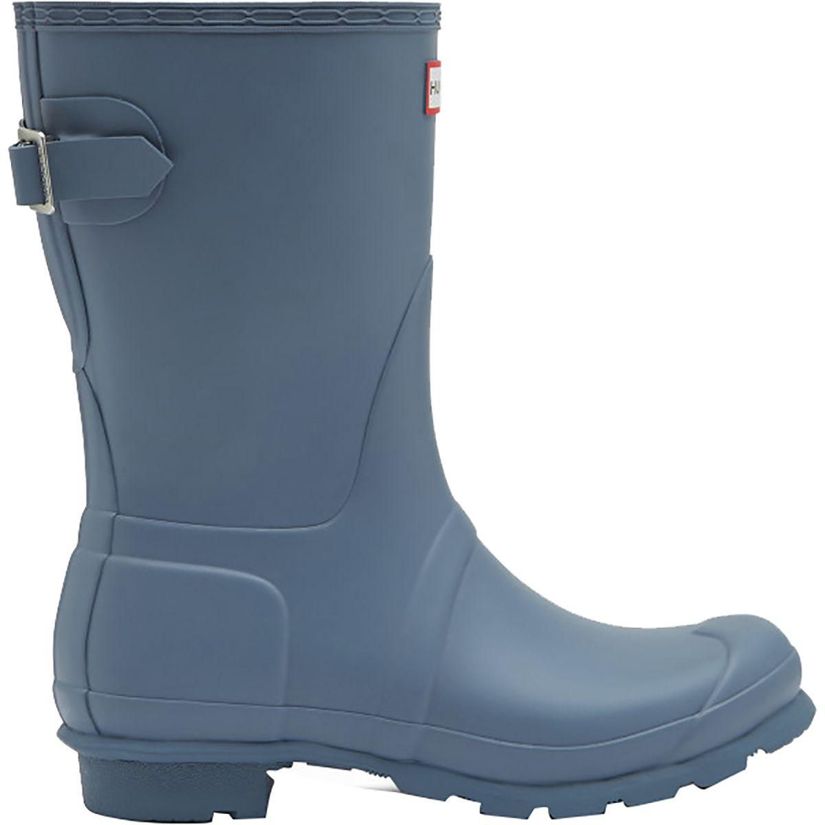 4bb617d8c80 Lyst - HUNTER Original Back Adjustable Short Rain Boot in Blue