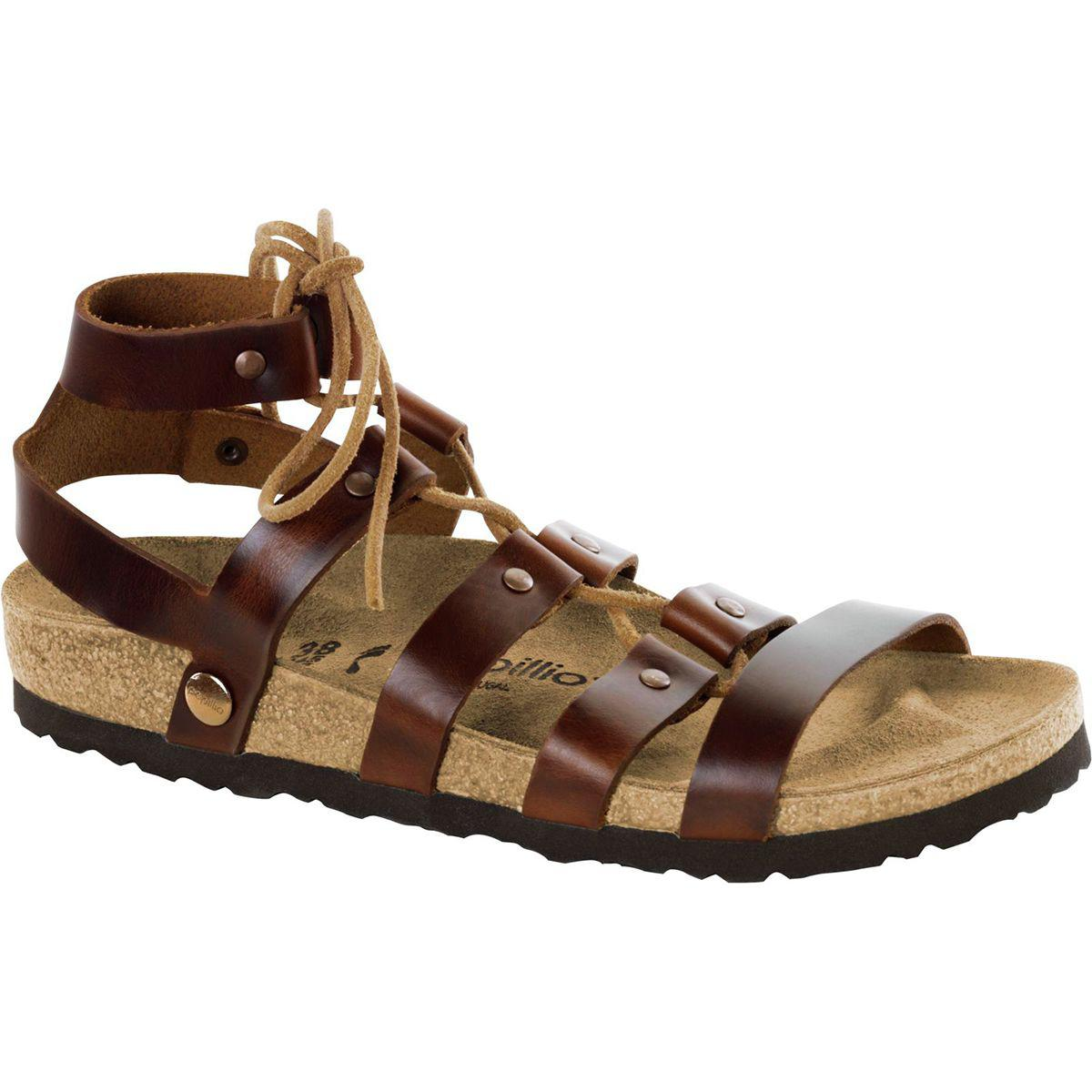 85cc4e57511 Lyst - Birkenstock Cleo Leather Narrow Sandal in Brown