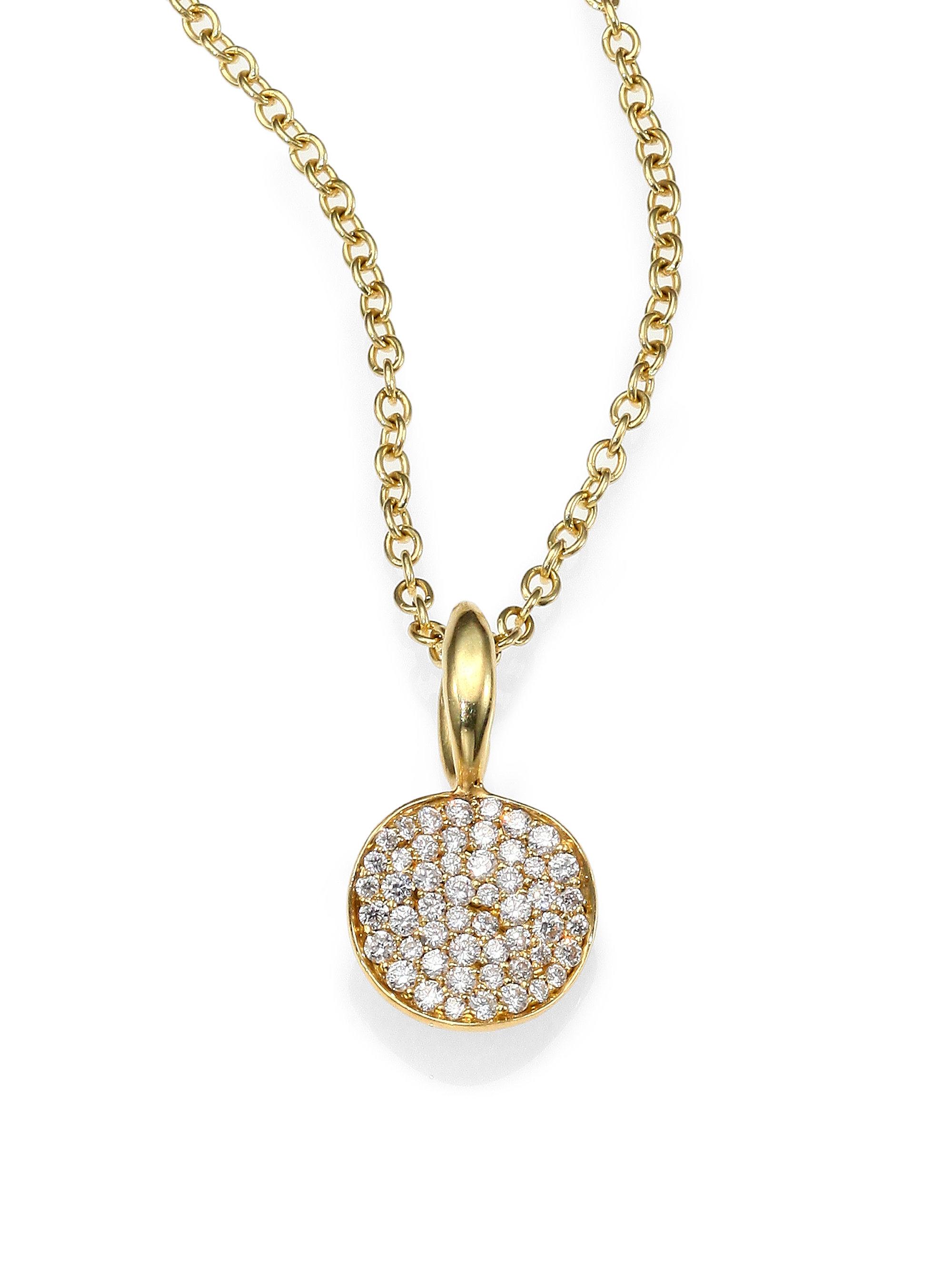 Ippolita Pav 233 Diamond Amp 18k Yellow Gold Disc Charm In