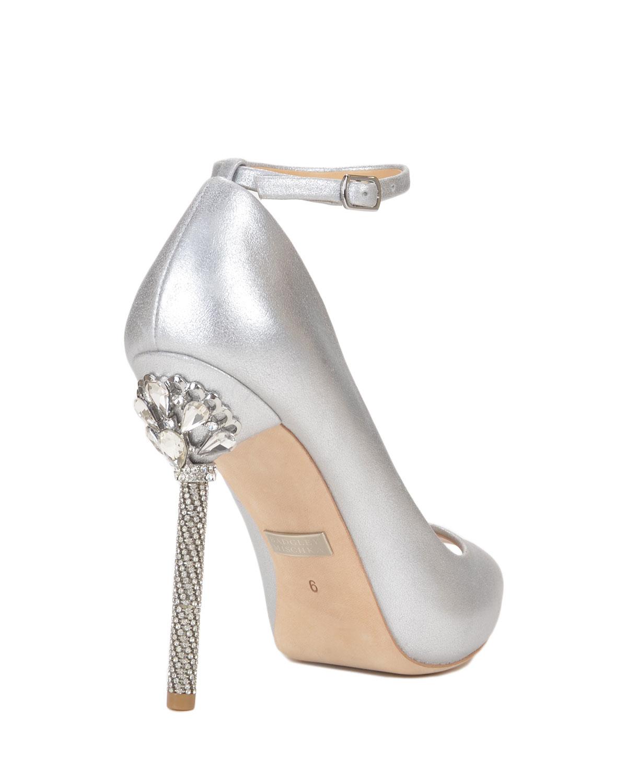 Badgley Mischka Diego Ii Embellished Heel Evening Shoe In