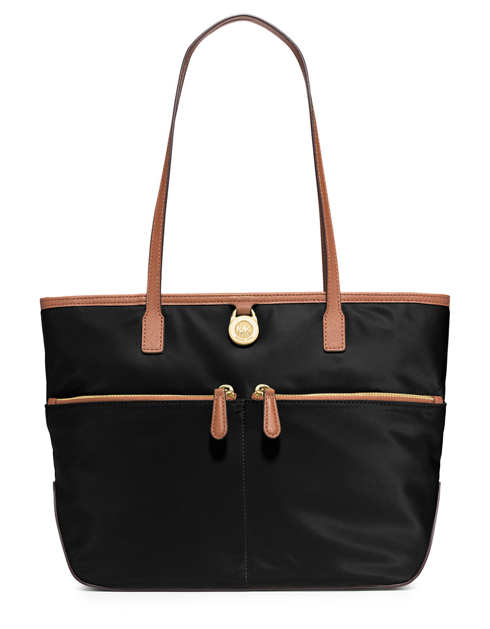 Michael michael kors Kempton Medium Pocket Tote in Black ...