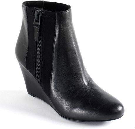 via spiga filomena leather wedge boots in black lyst