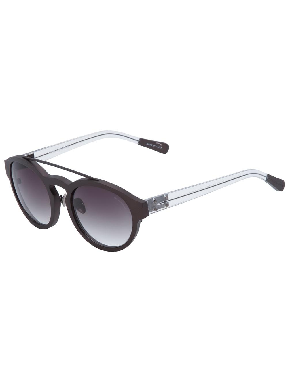 Oakley Batwolf Lenses >> Lyst - Kris Van Assche Round Frame Sunglasses in Black for Men