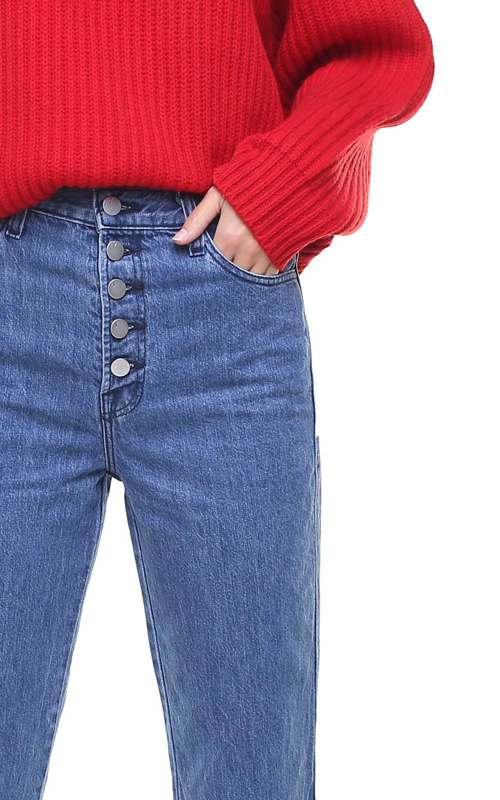 45e7ffa2 J Brand - Blue Heather High-rise Straight-leg Jeans - Lyst. View fullscreen