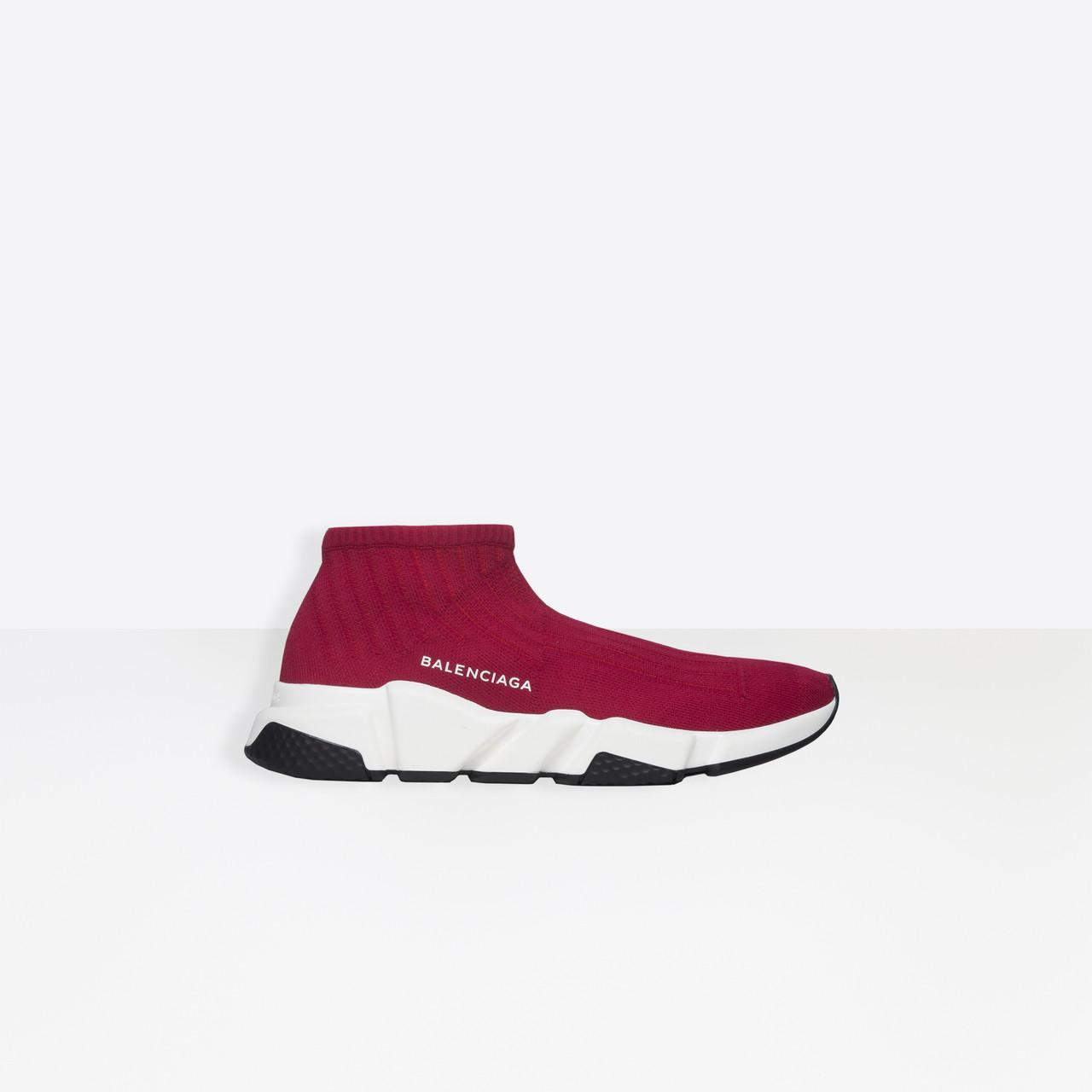 Balenciaga Speed Low Trainer in Red for Men