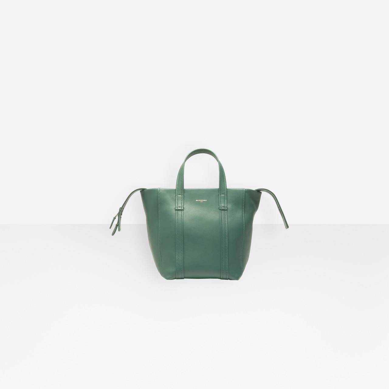 e2a6ccefab Balenciaga Laundry Cabas Xs in Green - Lyst